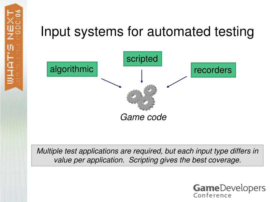 Input systems for automated testing