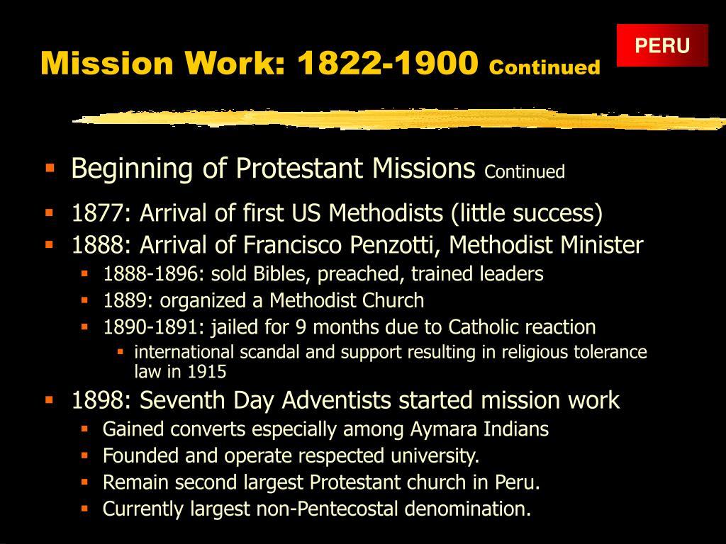 Mission Work: 1822-1900