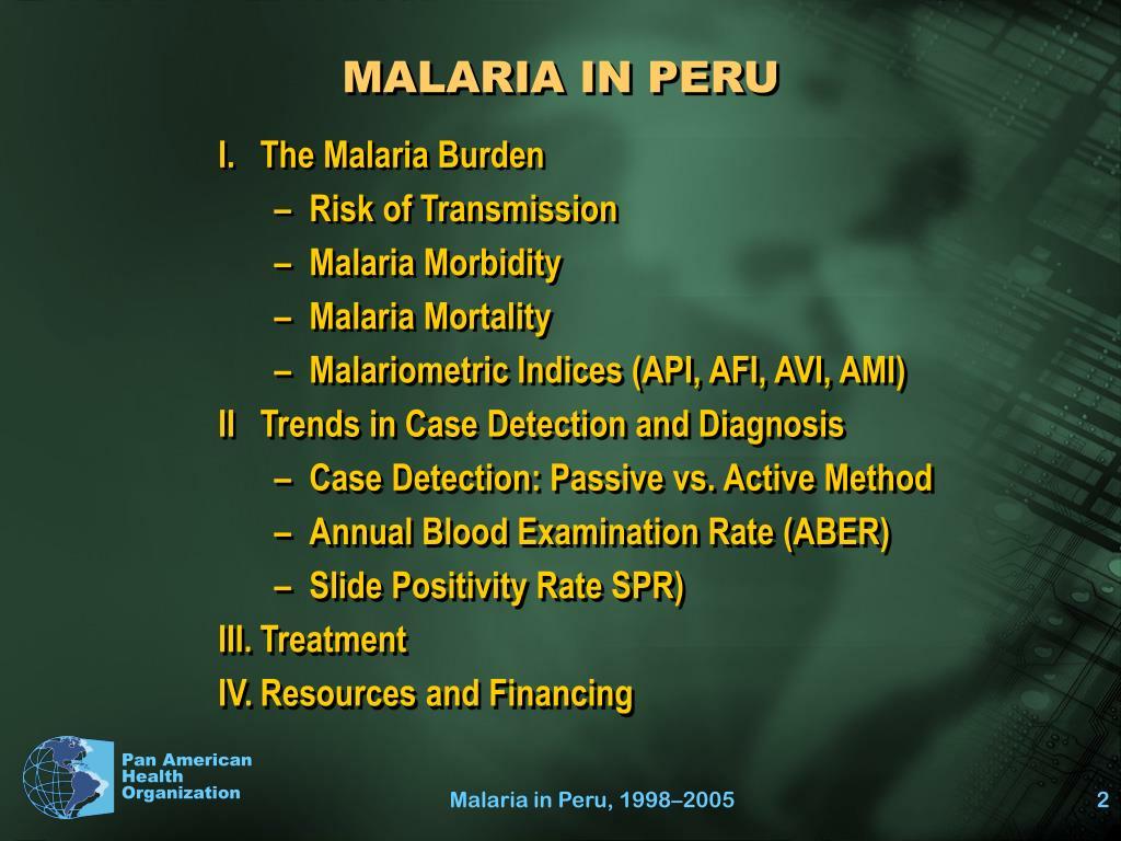 MALARIA IN PERU