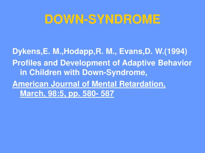 DOWN-SYNDROME