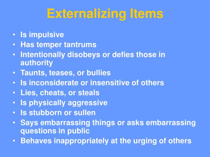 Externalizing Items