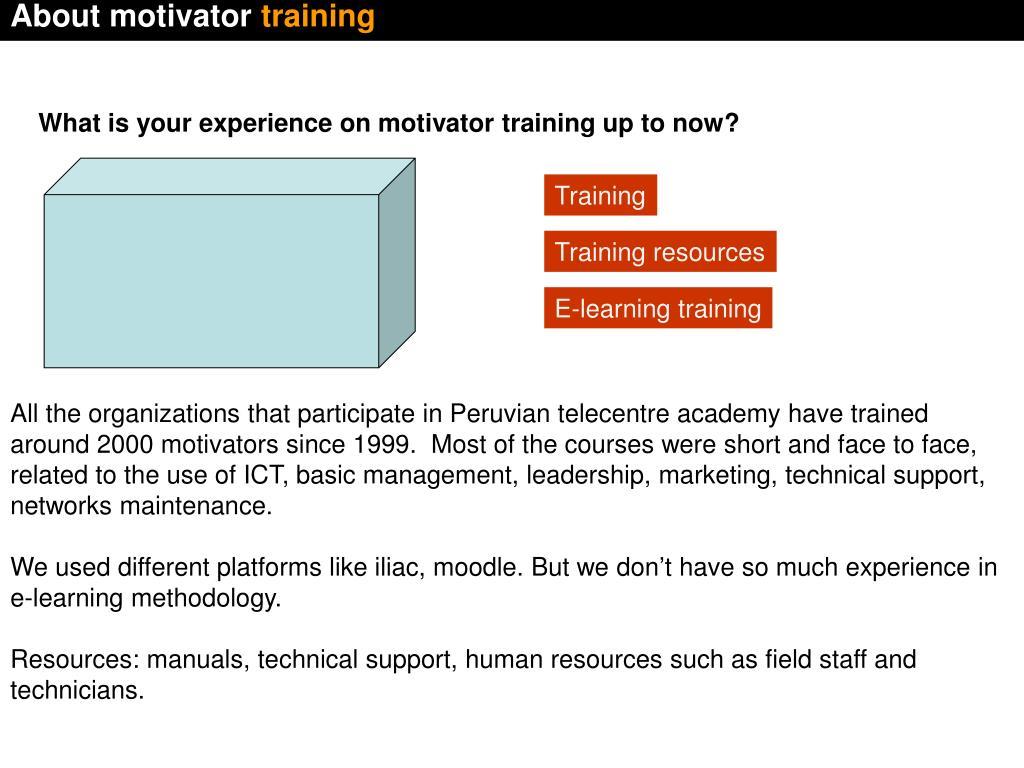 About motivator