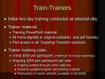 train trainers