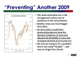 preventing another 2009