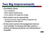 two big improvements