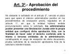 art 3 aprobaci n del procedimiento