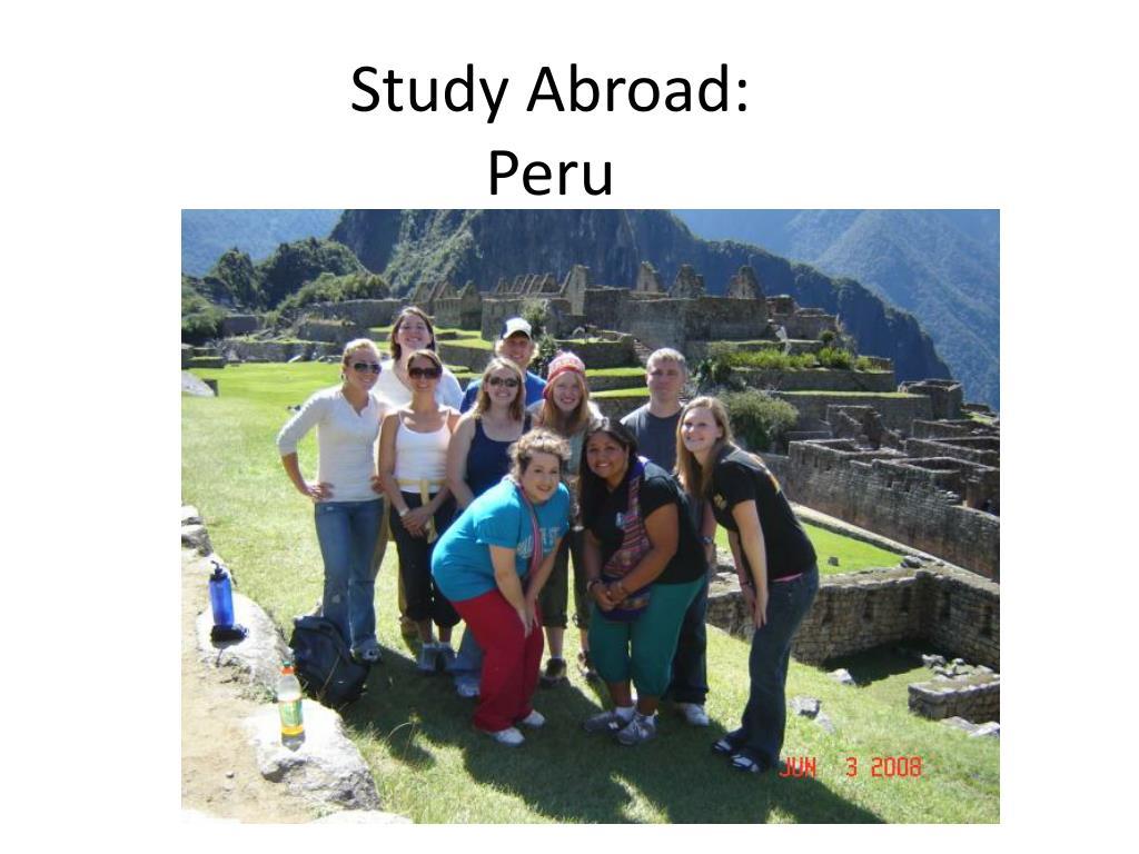 study abroad peru l.