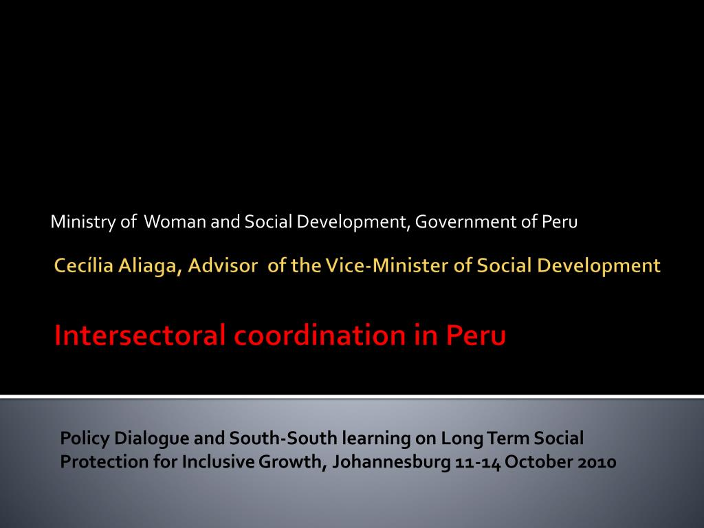 ministry of woman and social development government of peru l.