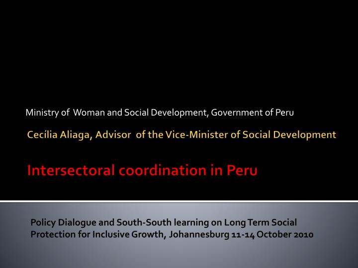 Ministry of woman and social development government of peru