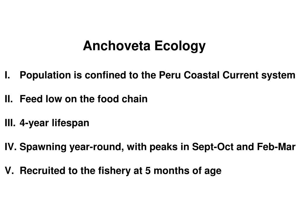 Anchoveta Ecology