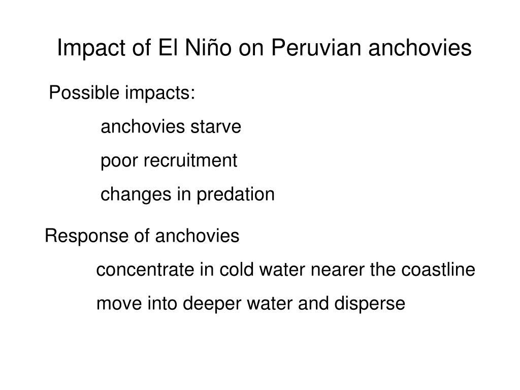 Impact of El Ni