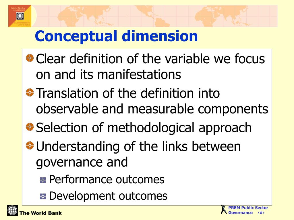 Clear definition of the variable we focus on and its manifestations