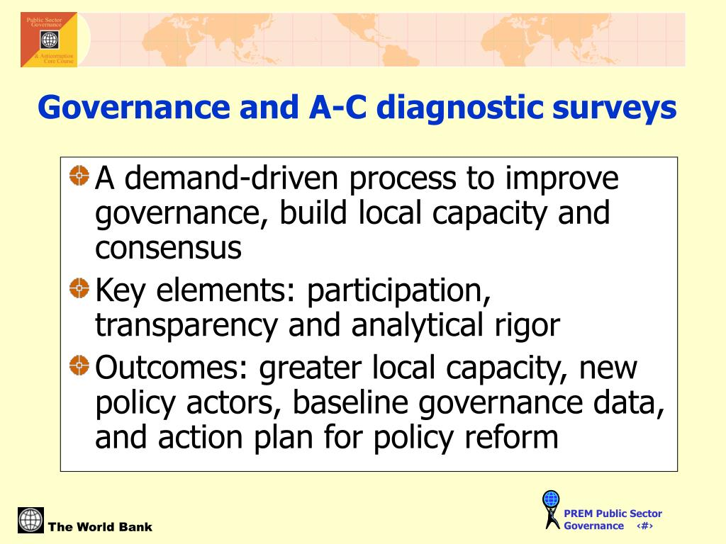 A demand-driven process to improve governance, build local capacity and consensus