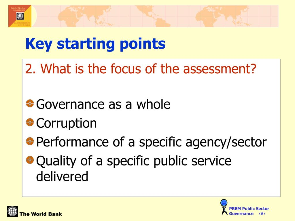2. What is the focus of the assessment?