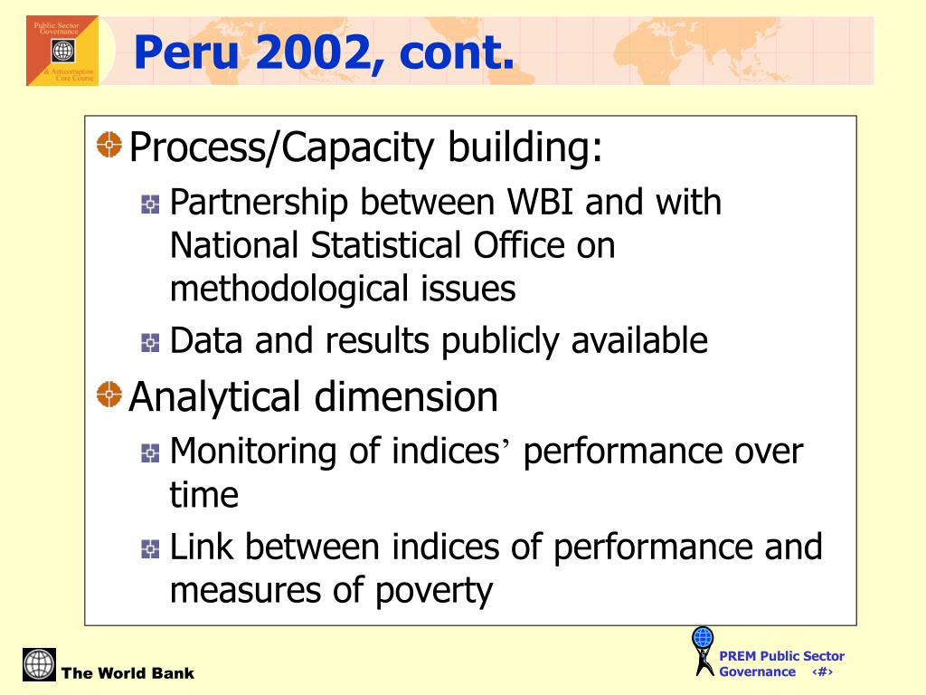 Process/Capacity building: