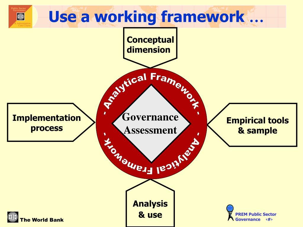 Use a working framework