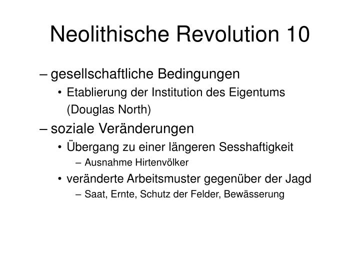 Neolithische Revolution 10