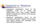 categorical vs relational