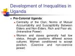 development of inequalities in uganda