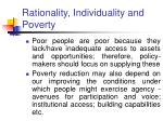 rationality individuality and poverty