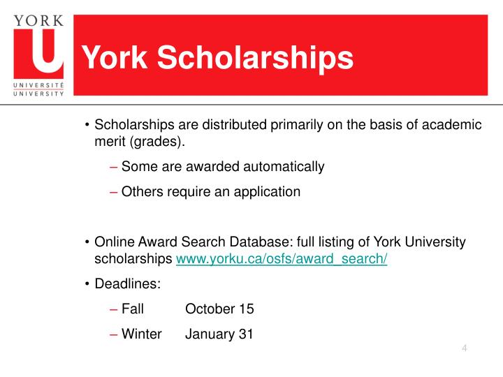 York Scholarships