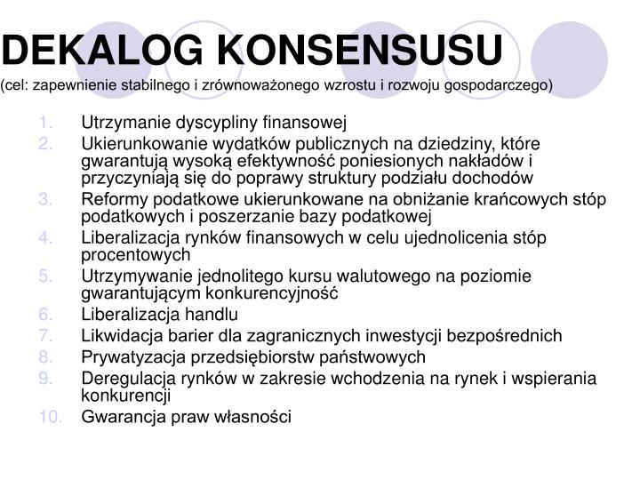 DEKALOG KONSENSUSU