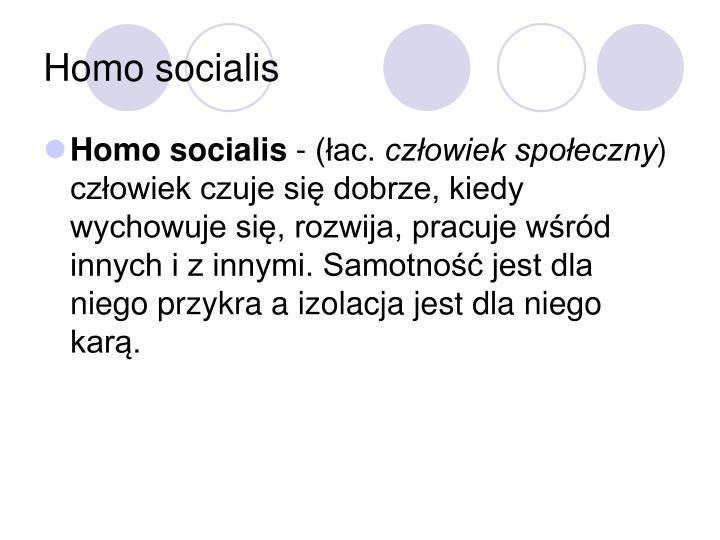 Homo socialis