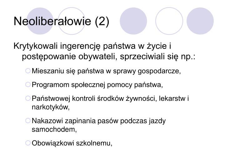 Neoliberałowie (2)