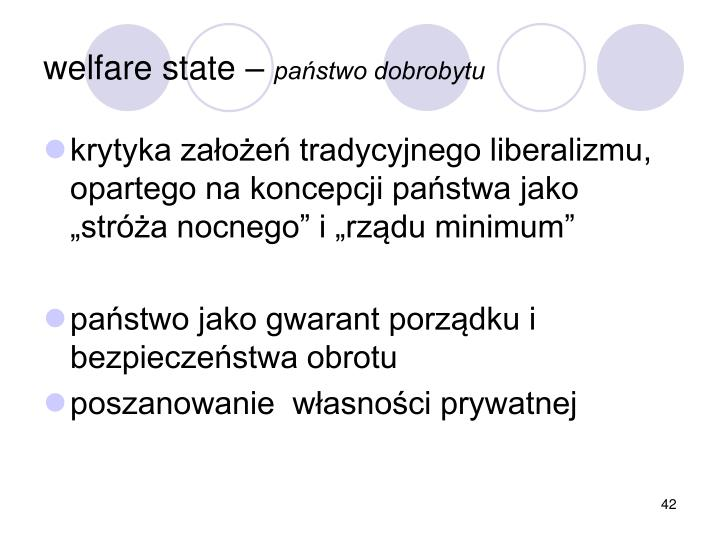 welfare state –