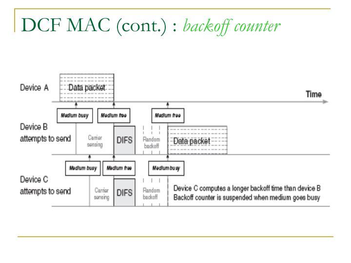 DCF MAC (cont.) :