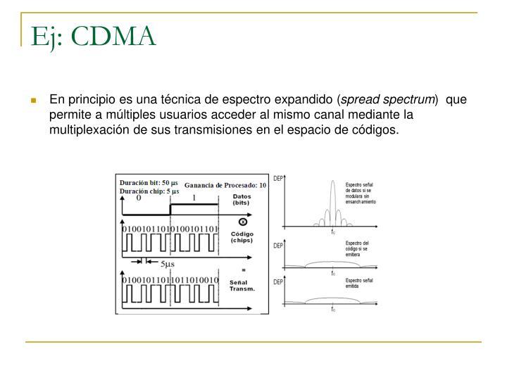 Ej: CDMA