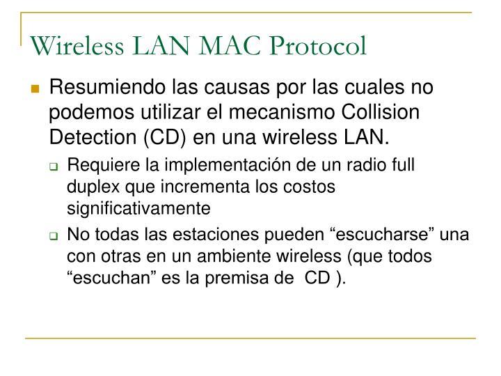 Wireless LAN MAC Protocol