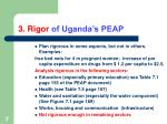 3 rigor of uganda s peap