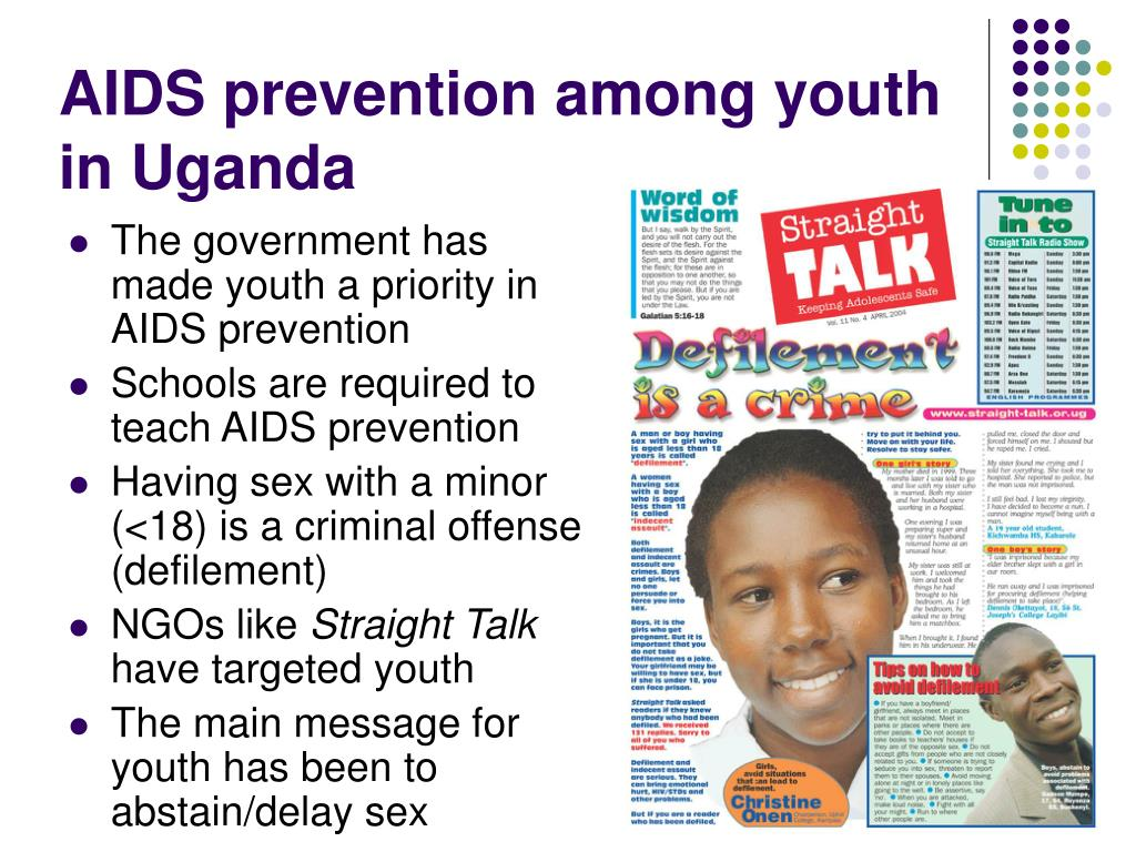 AIDS prevention among youth in Uganda