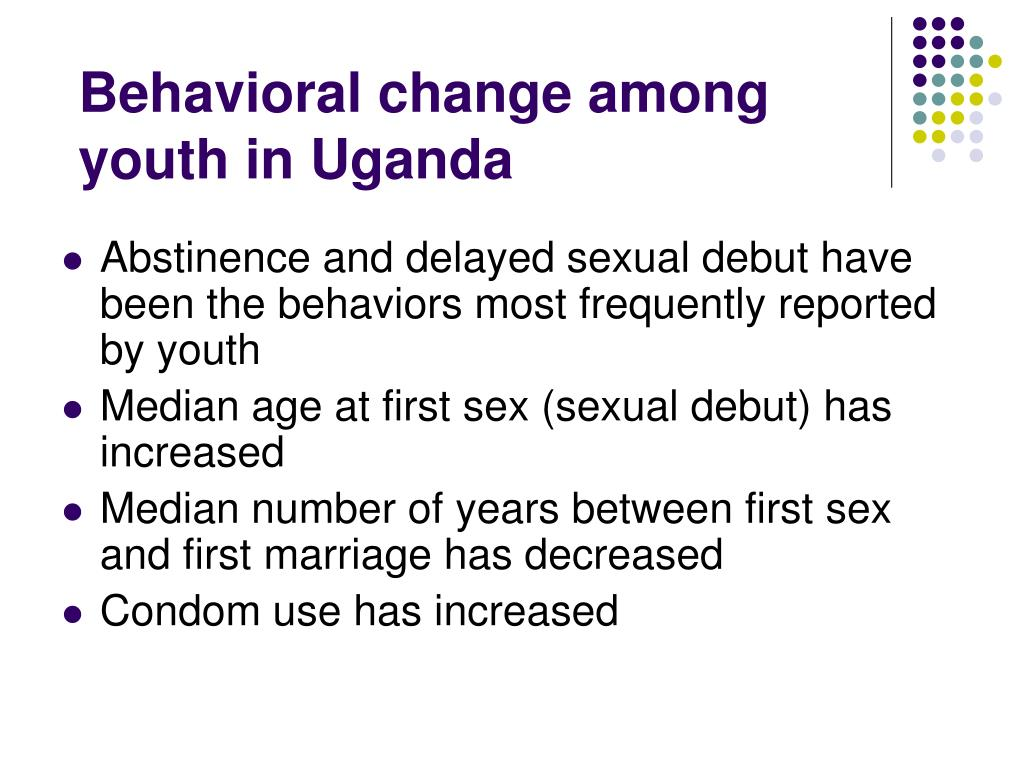 Behavioral change among youth in Uganda