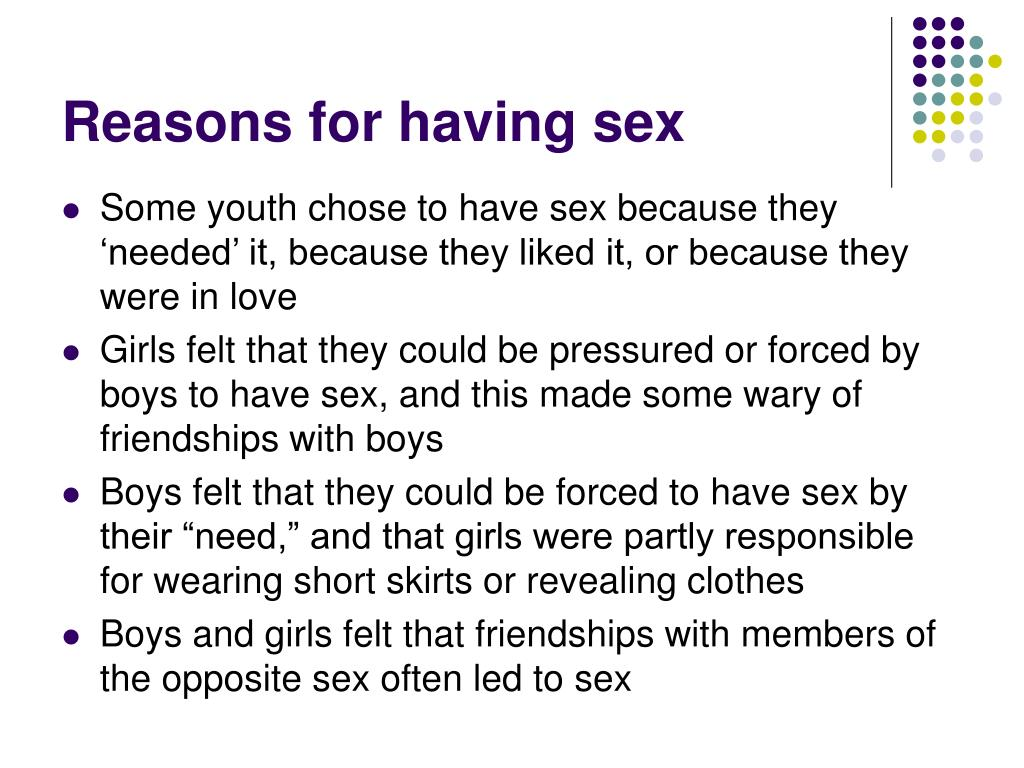 Reasons for having sex
