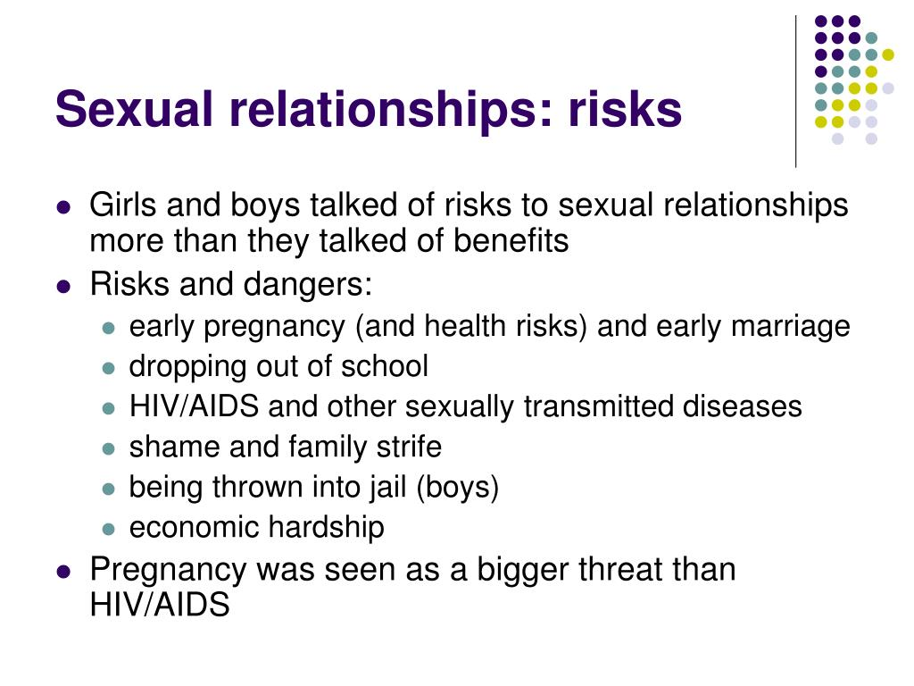 Sexual relationships: risks