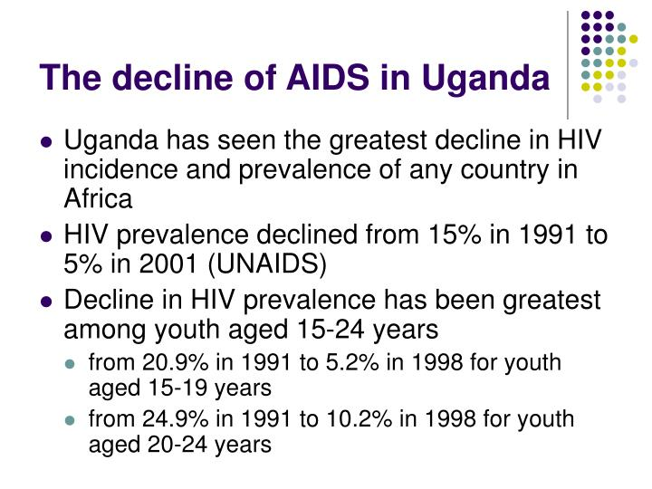 The decline of aids in uganda
