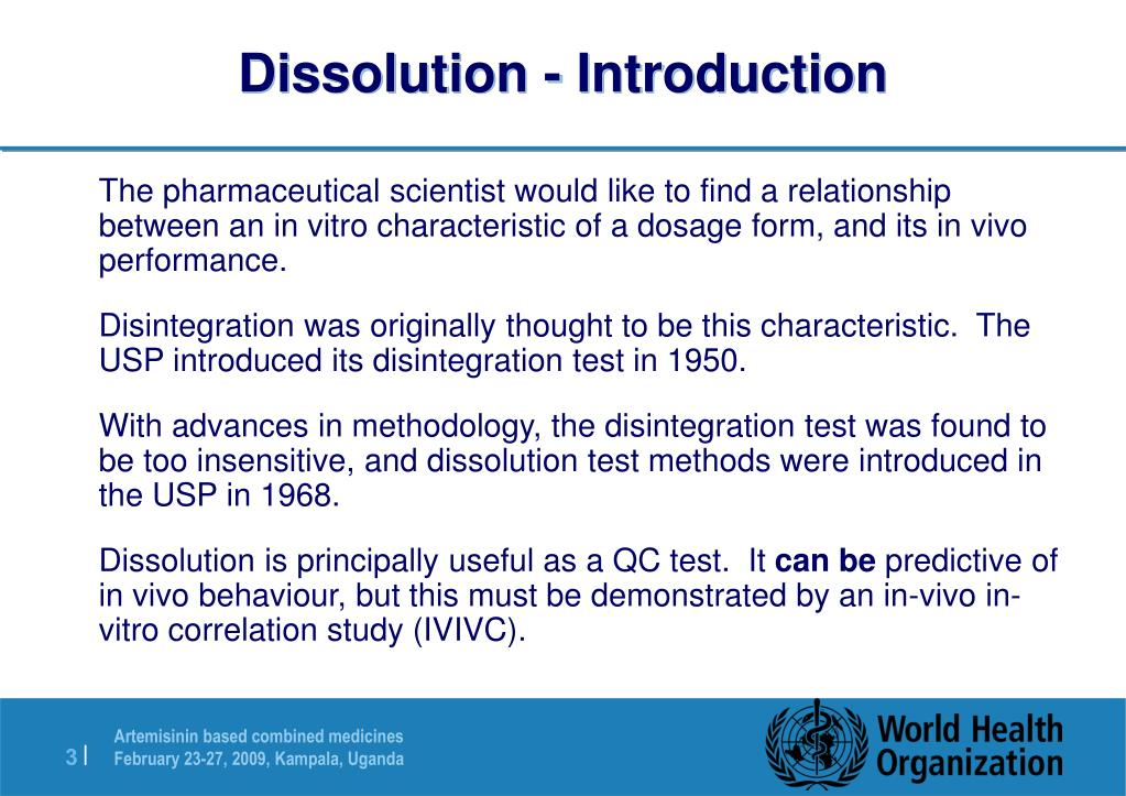 Dissolution - Introduction