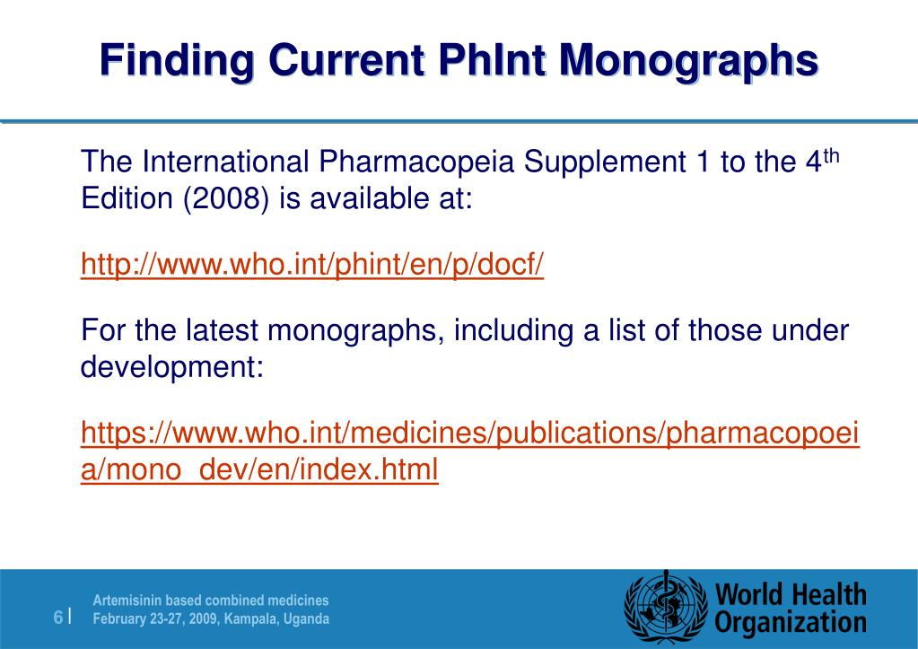 Finding Current PhInt Monographs