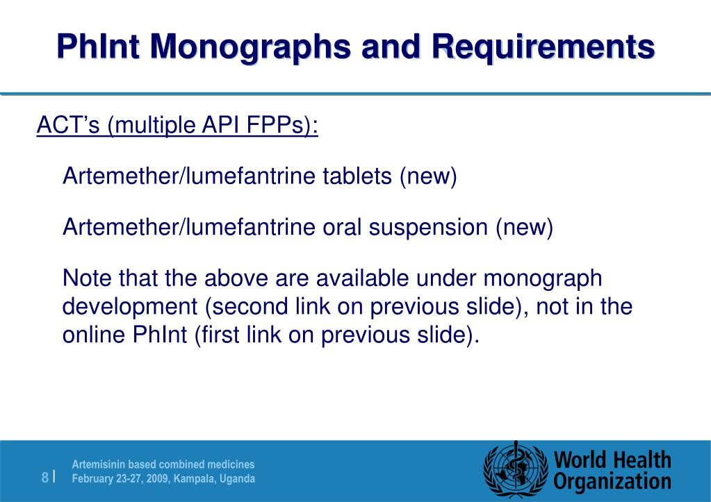 PhInt Monographs and Requirements