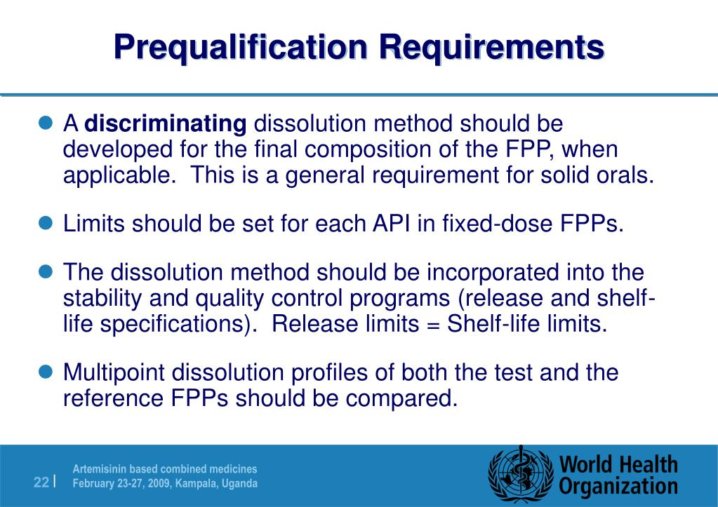 Prequalification Requirements