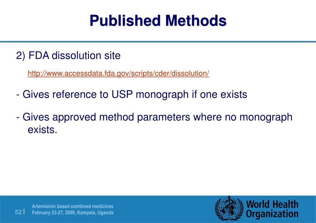 Published Methods