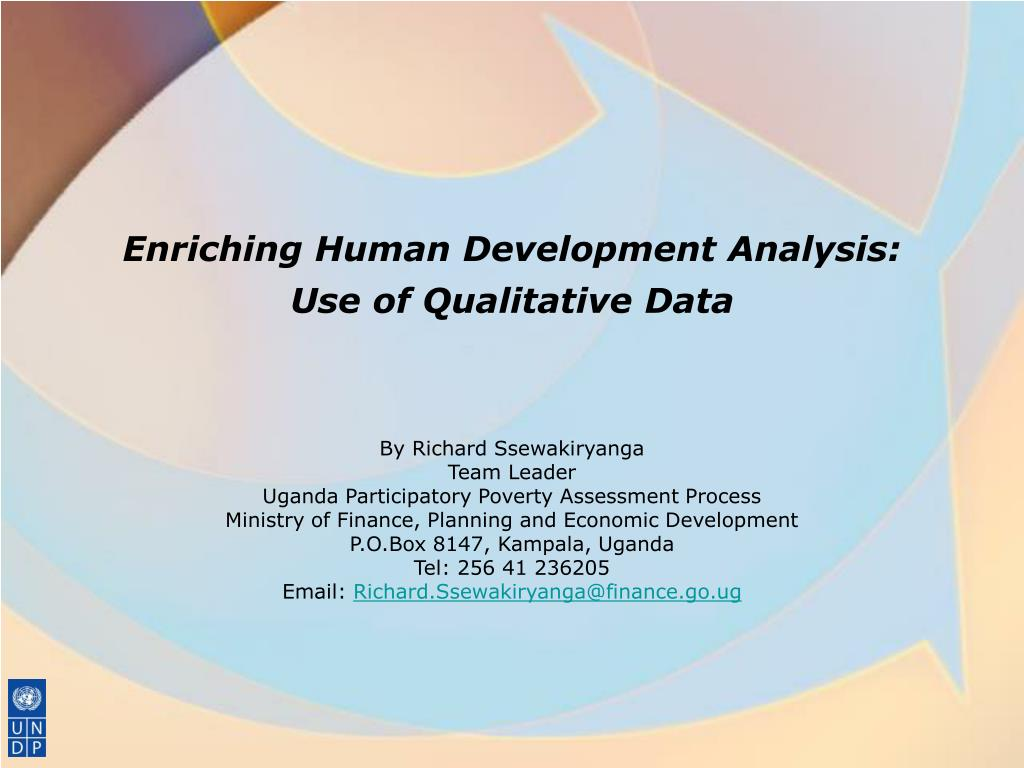 enriching human development analysis use of qualitative data l.