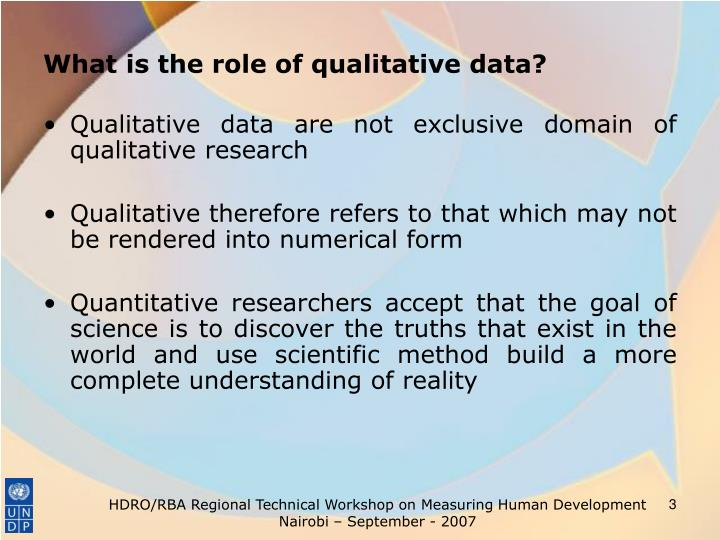 What is the role of qualitative data