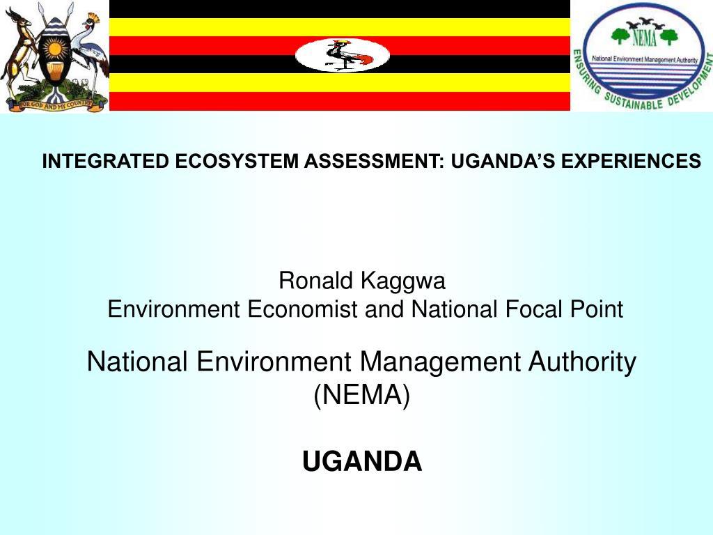 integrated ecosystem assessment uganda s experiences