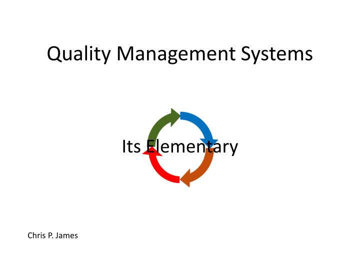 quality management systems n.