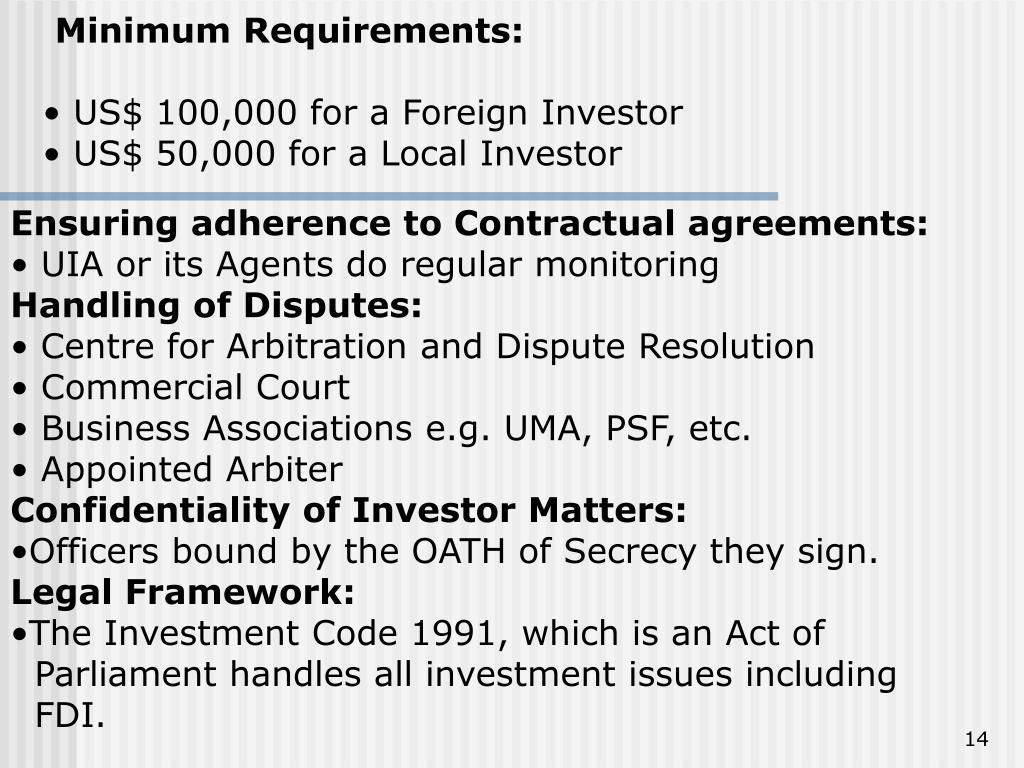 Minimum Requirements: