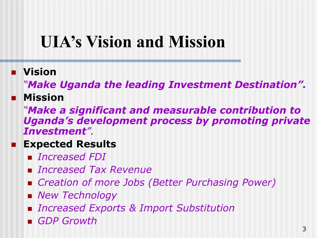 UIA's Vision and Mission