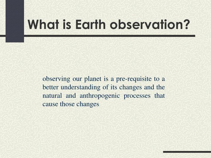 What is earth observation